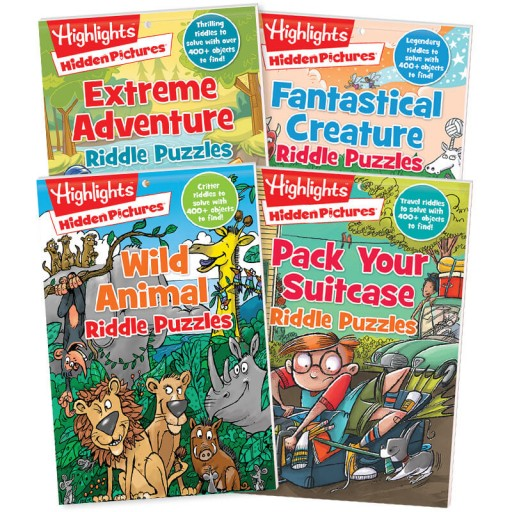 Hidden Pictures Riddle Puzzle Pads Set of 4