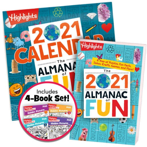 Almanac of Fun Book + Almanac of Fun Calendar + Hidden Pictures 2021 4-Book Set