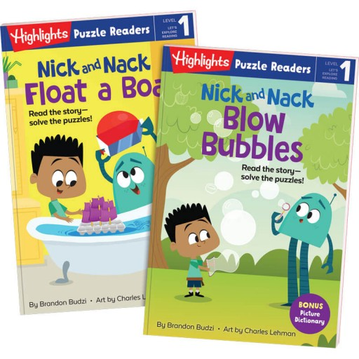 Nick and Nack Blow Bubbles and Float a Boat puzzle readers