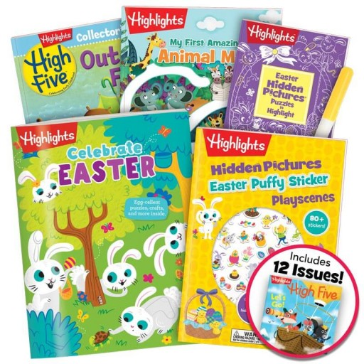 Easter Gift Set for ages 3+, with 5 books, a marker and magazine subscription