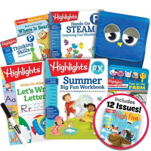 Deluxe Summer Learning Pack: P-K, with 5 books, lunch bag, pencil toppers kit and magazine subscription