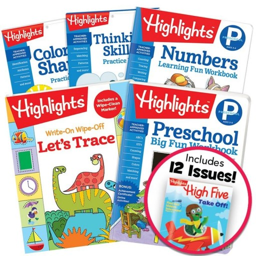 Preschool Success Pack with 5 books plus magazine subscription