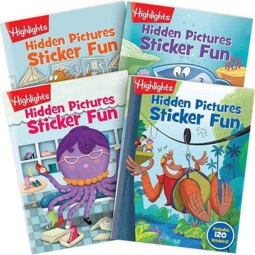 Hidden Pictures Sticker Fun 4-book set