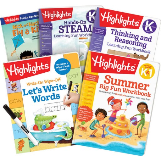 Summer Learning Pack: K-1, with 5 books