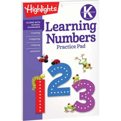 Learning Numbers Practice Pad for Kindergarten