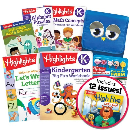School Success Pack, Kindergarten, with 5 books, lunch tote, puzzle and pencil kit, and magazine subscription