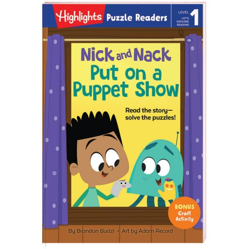 Highlights Puzzle Readers: Nick and Nack Put on a Puppet Show book