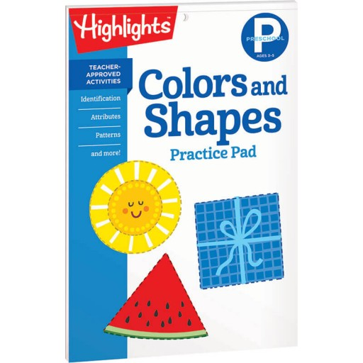 Colors and Shapes Practice Pad for Preschool