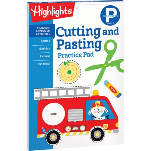 Cutting and Pasting Practice Pad for Preschool