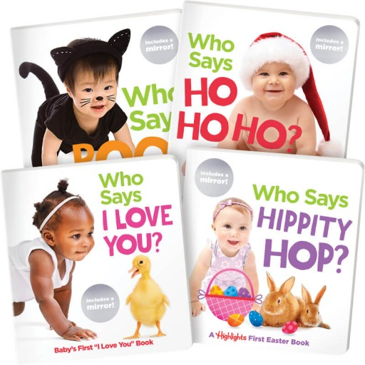 Who Says Holiday Board Books 4-Book Set