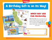 Which Way USA Certificate Birthday Gift Announcement