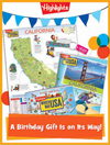 Which Way USA Foldable Birthday Gift Announcement