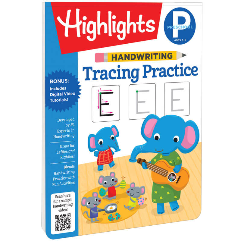 Handwriting Tracing Practice Highlights For Children