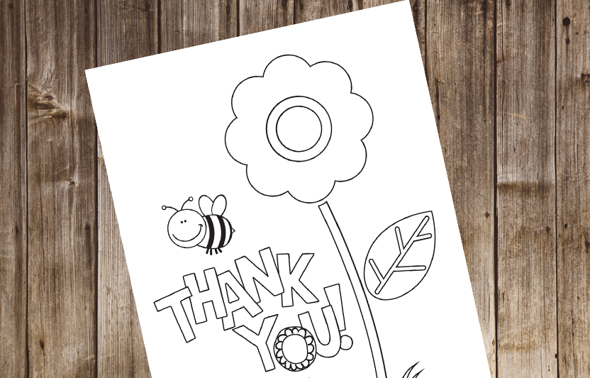 It is an image of Rare Printable Thank You Cards for Kids